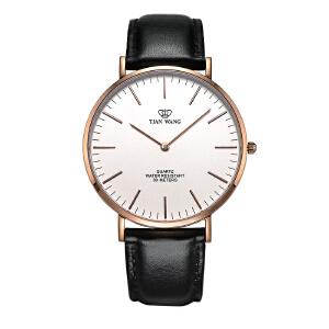 新品天王表男士手表女表时尚表男皮带情侣腕表女士手表休闲石英表3851