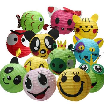 动物儿童手工灯笼 diy制作材料包手提万圣节纸灯笼批发幼儿园ef25663