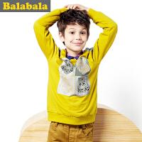 巴拉巴拉童装男童长袖T恤中大童儿童秋装新款