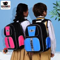 新品台湾unme小学生书包男3-6年级女童防水护脊减负双肩儿童背包