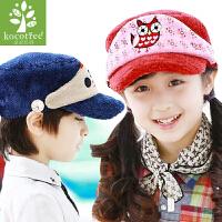 韩国kocotree儿童帽子秋冬新款可爱男女童帽子韩版保暖宝宝鸭舌帽