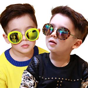 韩国个性儿童墨镜男童女童太阳镜小孩宝宝墨镜学生眼镜潮