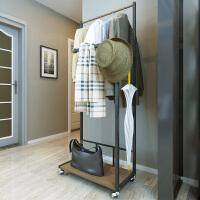 择木宜居 创意多功能落地衣帽架子 可旋转移动卧室挂衣架简易衣架