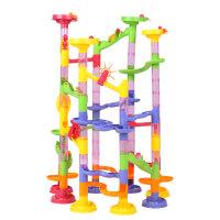 大贸商 儿童轨道滚珠积木塑料管道拼装拼插玩具组合迷宫建筑 AF31002