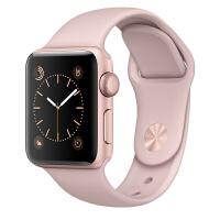 [当当自营] Apple Watch Sport Series 1智能手表(38毫米玫瑰金色铝金属表壳搭配粉砂色运动型表带 MNNH2CH/A)