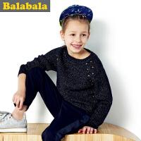 巴拉巴拉balabala童装女童毛衫中大童毛衣儿童秋装新款