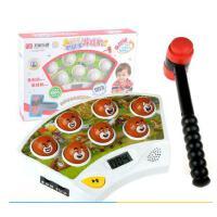 五星熊出没大号升级打地鼠游戏机幼儿童益智宝宝音乐玩具1-3岁半2