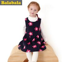 巴拉巴拉balabala童装女童甜美时尚连衣裙中大童裙子儿童冬装新款