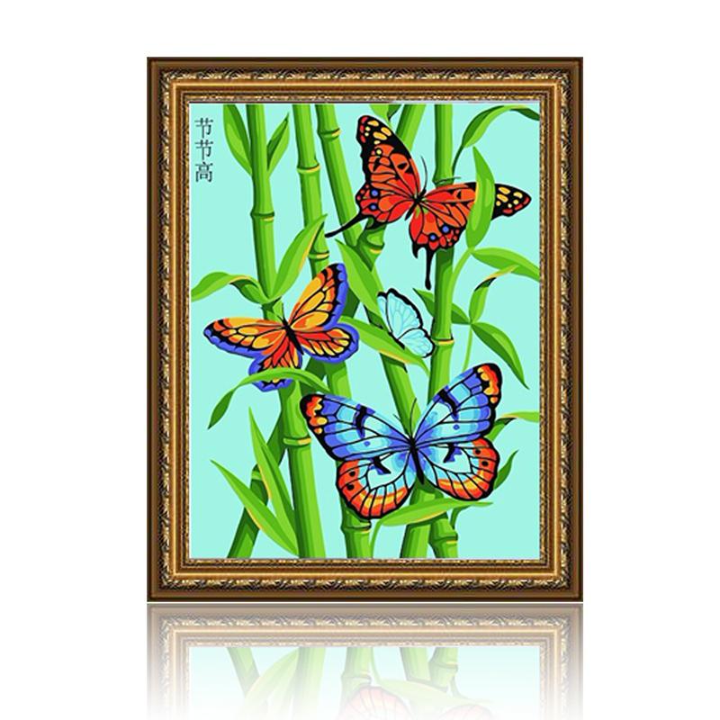 手工 绘画 舞动色彩绘画 舞动色彩 节节高 diy数字油画风景彩绘装饰画