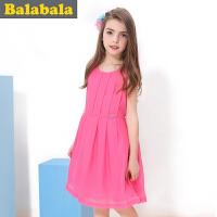 巴拉巴拉balabala女童连衣裙背心裙公主夏装新品童装