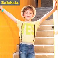 巴拉巴拉男童短袖t恤中大童上衣童装夏装儿童学生T恤男
