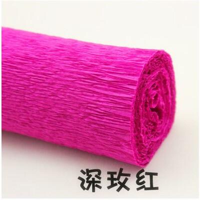彩色皱纹纸手揉纸diy手工材料 纸花 纸玫瑰 伸缩纸 卷边纸 玫瑰花卷边