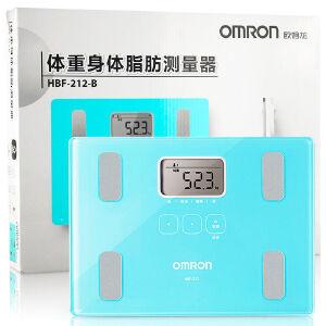 当当自营欧姆龙(OMRON)体重脂肪测量仪HBF-212 B 湖蓝 脂肪秤 电子秤 智能健康体脂仪