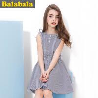 巴拉巴拉balabala童装女童竖纹连衣裙夏装