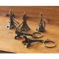 zakka小铁塔挂件 古铜铁塔钥匙扣 Paris浪漫小铁塔装饰品