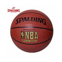 SPALDING斯伯丁篮球64-435 PU皮NBA金色LOGO7号比赛篮球 送气针网兜口哨