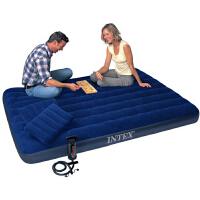 -INTEX蓝色灯芯绒空气床套装68765  气垫床午休床