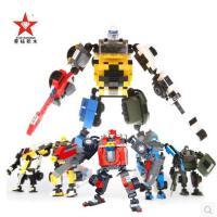 石头父子代言广告款全新上线 星钻积变战士3变积木变形玩具儿童拼装玩具塑料拼插积木男孩益智