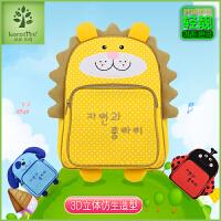 韩国儿童书包幼儿园书包男童双肩包女童2-6岁超轻可爱卡通小背包