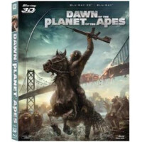 电影 3D 猩球崛起2 黎明之战 蓝光碟 BD50 赠偏光式3D眼镜一副