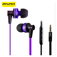 【正品包邮】Awei/用维 90vi苹果手机入耳式金属重低音线控新款耳机