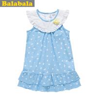 巴拉巴拉balabala童装女幼童时尚连衣裙幼童宝宝儿童夏装