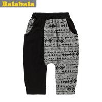 巴拉巴拉童装男童拼接七分裤中大童时尚中裤夏装新款儿童裤子
