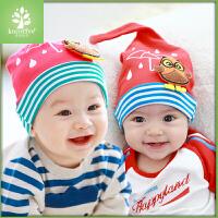 韩国kk树宝宝帽子秋3-6-12个月婴儿帽子新生儿帽子小孩儿童套头帽