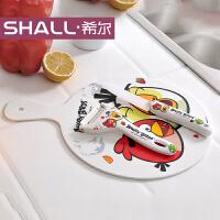 [当当自营]希尔SHALL 愤怒小鸟系列密胺多用垫板和陶瓷刀组合套装 AG8881