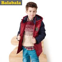 巴拉巴拉balabala童装男童时尚拼接羽绒服中大童上衣2015儿童冬装新款