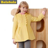 巴拉巴拉balabala童装女童呢衣中大童上衣外套儿童冬装新款女