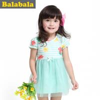 巴拉巴拉童装女童网纱拼接连衣裙幼童宝宝裙子儿童夏装新款