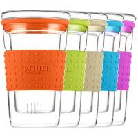 [当当自营]Vatiri 乐怡糖果过滤式耐热玻璃杯360ml橙/绿/蓝/紫/白五色任选 VTC0007