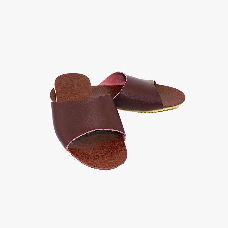 当当优品 男女家居拖鞋 牛皮拖鞋 天然橡胶底凉拖鞋 室内防滑地板拖鞋T1602