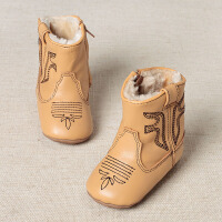 davebella戴维贝拉女童秋冬季宝宝羊皮保暖雪地靴 婴儿鞋