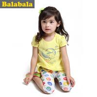 【5.25巴拉巴拉超级品牌日】巴拉巴拉童装女童短袖套装幼童宝宝短袖T恤套装儿童夏装新款