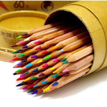 hero/英雄 60油性彩色铅笔填色笔 彩色铅笔英雄彩铅学生 绘画铅笔 可