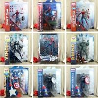 电影神奇蜘蛛侠2手办模型场景 美国队长关节可动人偶玩具