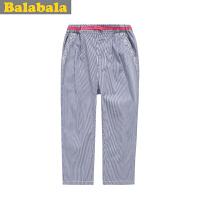 巴拉巴拉 童装 女童时尚竖纹七分裤 夏装 弄女中童大童