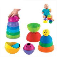 Fisher-Price费雪玩具层层叠彩虹杯叠叠乐叠杯 彩虹塔 K7166