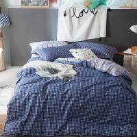 【包邮】伊迪梦家纺 全棉长绒棉4件套北欧简约风 大规格欧式加大床单双人床上用品被套四件套1.5/1.8/2.0米床ZK12