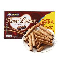 [当当自营] 马来西亚进口 茱蒂丝 Julie's 巧克力味蛋卷 120g
