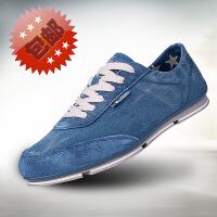 金帅威 新款韩版纯色牛仔布水洗做旧帆布鞋男休闲运动鞋单鞋