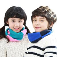 kk树韩版儿童围脖男女宝宝围脖秋冬款绒棉保暖套头围脖儿童围巾