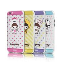 【包邮】Remax iphone 6plus可爱卡通手机壳 苹果i6s3D立体浮雕彩绘保护壳