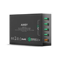 【包邮】Aukey 多口USB充电器 高通QC2.0 快速充电器 多口USB充电器平板手机快充闪充充电器 安卓充电器 充电器头 快充充电器 快充2.0充电器 闪充冲电器
