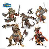 papo 幻想系列 鳄鱼战士 火龙人 龙战士 老虎战士 狮子战士