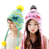 韩国宝宝帽子秋冬保暖可爱护耳帽儿童帽子冬男女童帽子潮小孩帽子