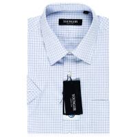 雅戈尔旗舰店商务正装男夏新款纯棉格子免烫短袖衬衫SDP12205IJY