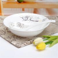 [当当自营]SKYTOP斯凯绨 陶瓷高档骨瓷餐具 永恒玫瑰9英寸汤碗+大条羹
